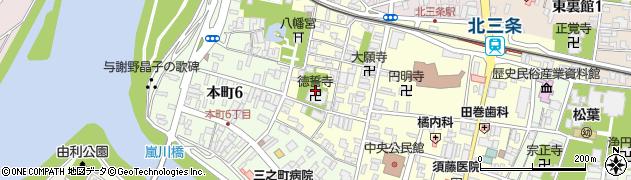 徳誓寺周辺の地図