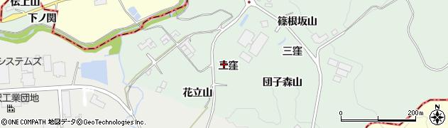 福島県二本松市下川崎(二窪)周辺の地図