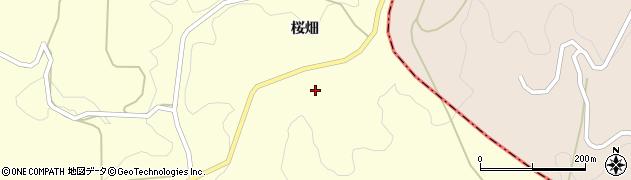 福島県二本松市木幡(桜畑)周辺の地図