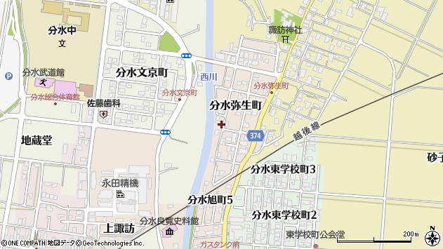 〒959-0104 新潟県燕市分水弥生町の地図