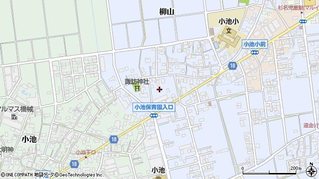 〒959-1274 新潟県燕市柳山の地図