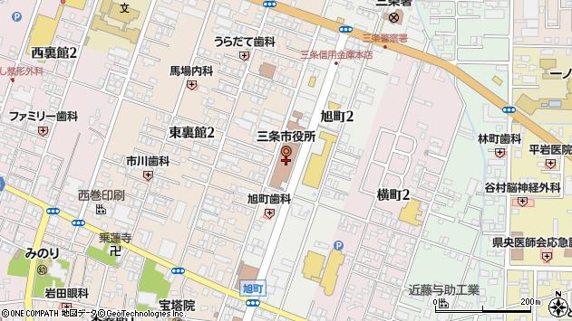 〒955-0000 新潟県三条市(以下に掲載がない場合)の地図