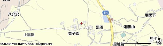 福島県二本松市渋川(栗子森)周辺の地図