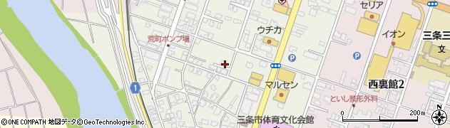 新潟県三条市荒町周辺の地図
