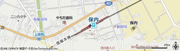 新潟県三条市周辺の地図