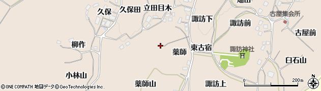 福島県二本松市吉倉(薬師山)周辺の地図