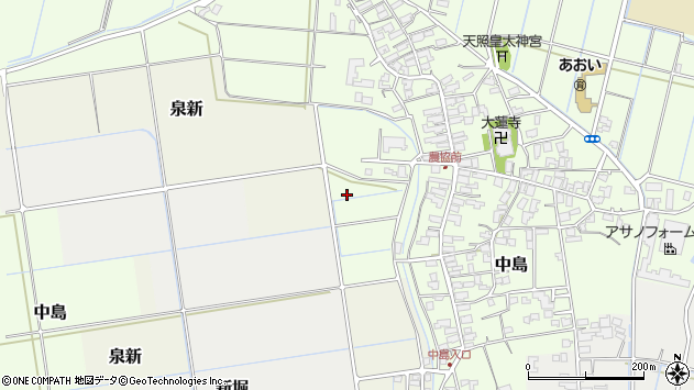 〒959-0105 新潟県燕市中島の地図