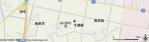 福島県南相馬市原町区下高平牛渡前周辺の地図