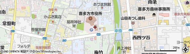 喜多方市役所 教育部・教育委員会・教育総務課周辺の地図