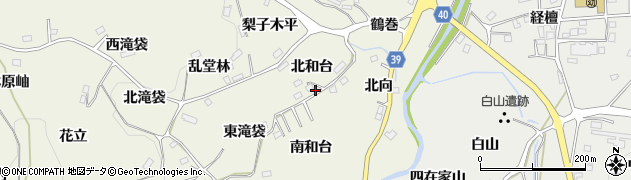福島県福島市飯野町明治(北和台)周辺の地図