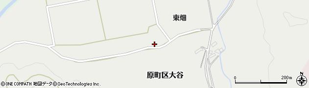 福島県南相馬市原町区大谷北向周辺の地図
