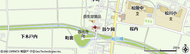 福島県福島市松川町(天明根)周辺の地図
