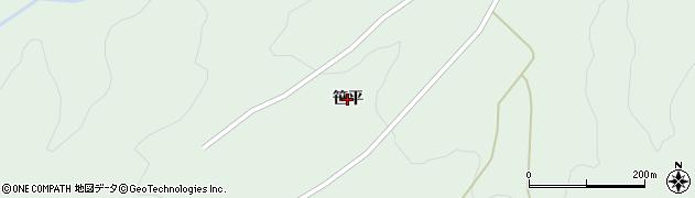 福島県福島市松川町水原(笹平)周辺の地図