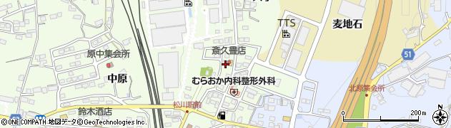 福島県福島市松川町(天王原)周辺の地図