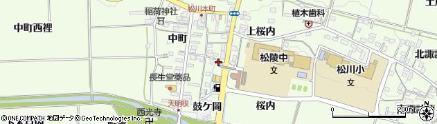福島県福島市松川町(鼓ケ岡)周辺の地図
