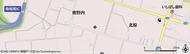 福島県南相馬市原町区信田沢原周辺の地図
