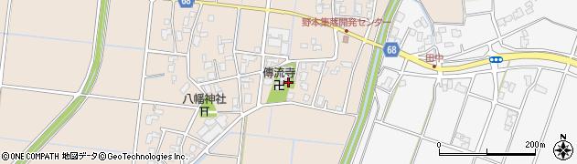 伝流寺周辺の地図