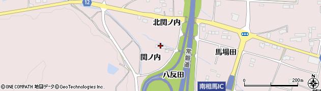 福島県南相馬市原町区信田沢八反田周辺の地図