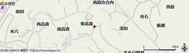 福島県福島市飯野町明治(東高森)周辺の地図