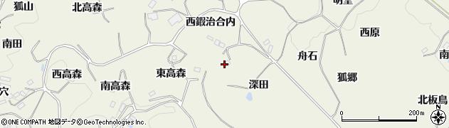 福島県福島市飯野町明治(深田)周辺の地図