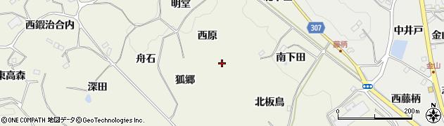 狐郷山周辺の地図