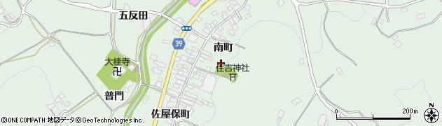 福島県福島市飯野町大久保(南町)周辺の地図