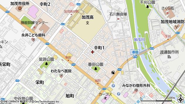 〒959-1313 新潟県加茂市幸町の地図