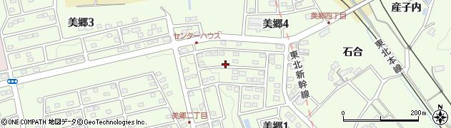 福島県福島市松川町(美郷4丁目)周辺の地図