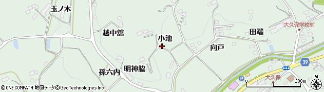 福島県福島市飯野町大久保(小池)周辺の地図