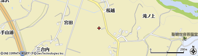 福島県福島市松川町金沢(桜越)周辺の地図