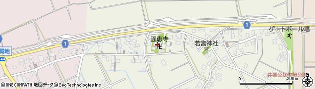 通恵寺周辺の地図