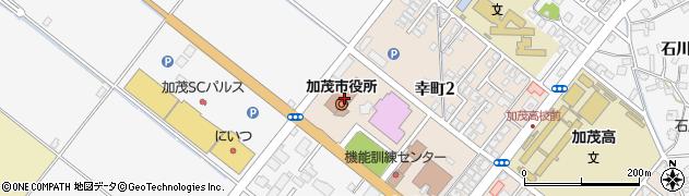 新潟県加茂市周辺の地図