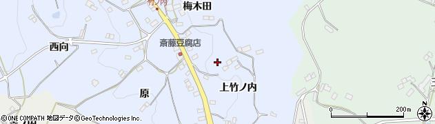 福島県福島市飯野町青木(梅木田山)周辺の地図