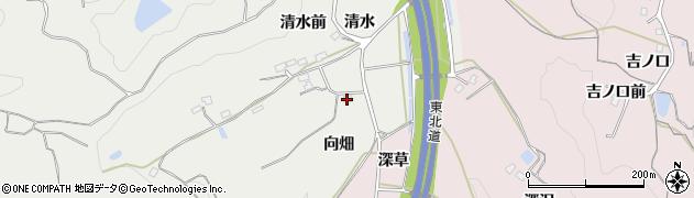 福島県福島市松川町関谷(向畑)周辺の地図