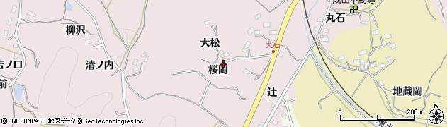 福島県福島市松川町浅川(桜岡)周辺の地図