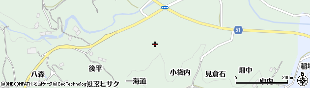 福島県福島市立子山(一海道)周辺の地図
