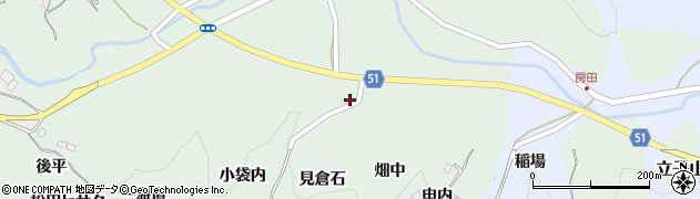 福島県福島市立子山(柳作)周辺の地図