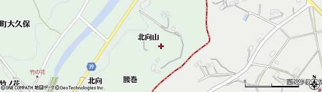 福島県福島市飯野町大久保(北向山)周辺の地図