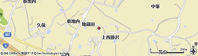 福島県福島市松川町金沢(上西勝沢)周辺の地図