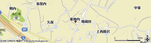 福島県福島市松川町金沢(東地内)周辺の地図