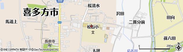 喜多方市 松山児童クラブ館周辺の地図