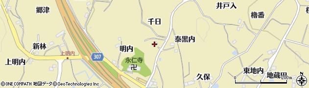 福島県福島市松川町金沢(千日)周辺の地図