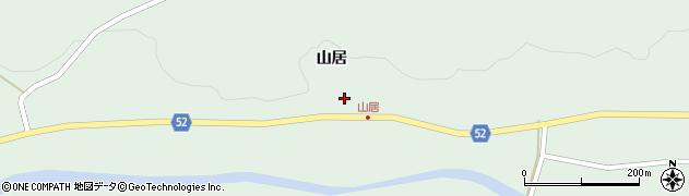 福島県福島市松川町水原(山居)周辺の地図