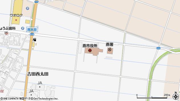 〒959-1200 新潟県燕市(以下に掲載がない場合)の地図