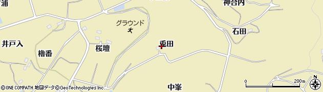 福島県福島市松川町金沢(兎田)周辺の地図