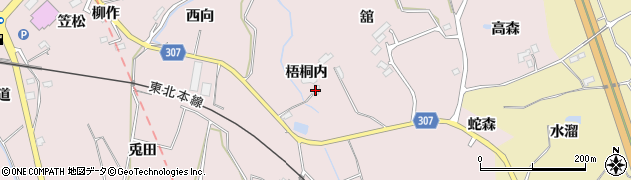 福島県福島市松川町浅川(梧桐内)周辺の地図