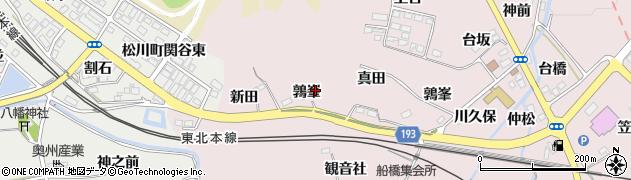 福島県福島市松川町浅川(鶉峯)周辺の地図