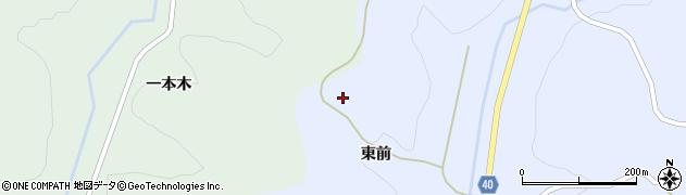 福島県福島市飯野町青木(上東前)周辺の地図