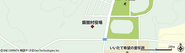 福島県相馬郡飯舘村周辺の地図