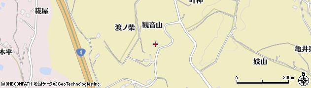 福島県福島市松川町金沢(観音山)周辺の地図